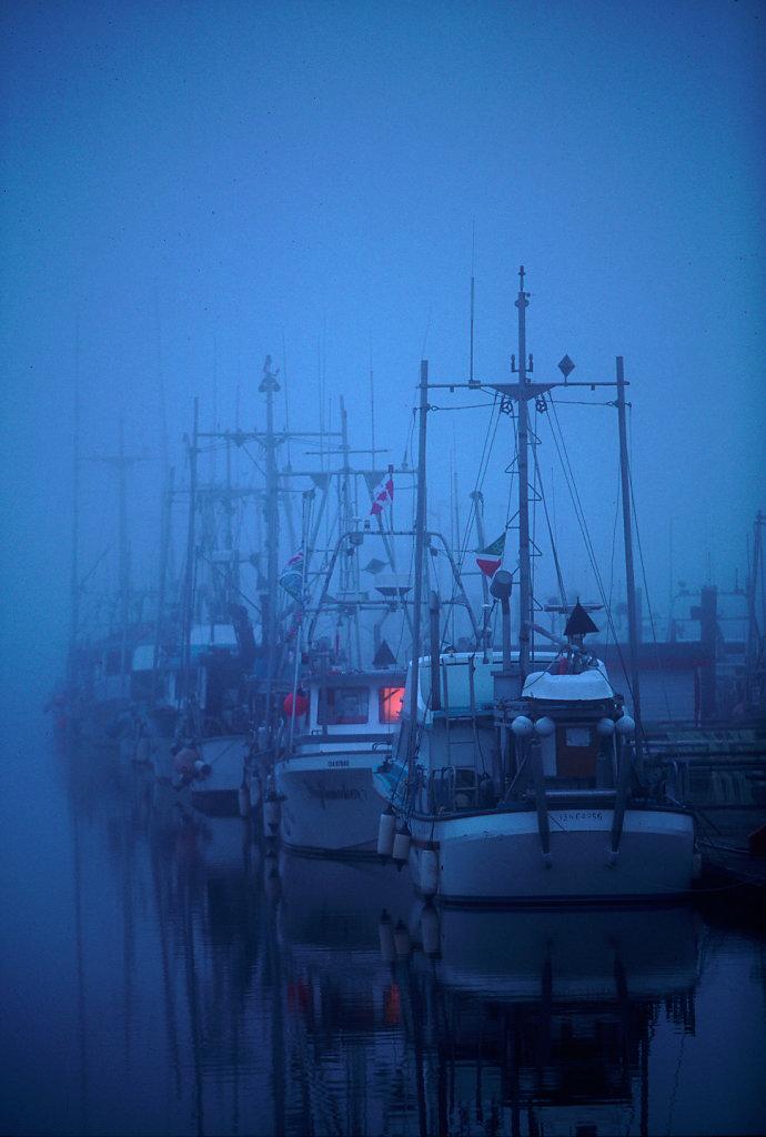 Foggy morning, Steveston, BC, Canada